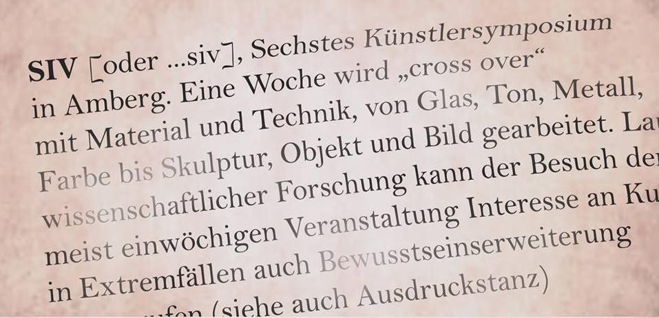 6. Amberger Kunstsymposium 2018 – SIV