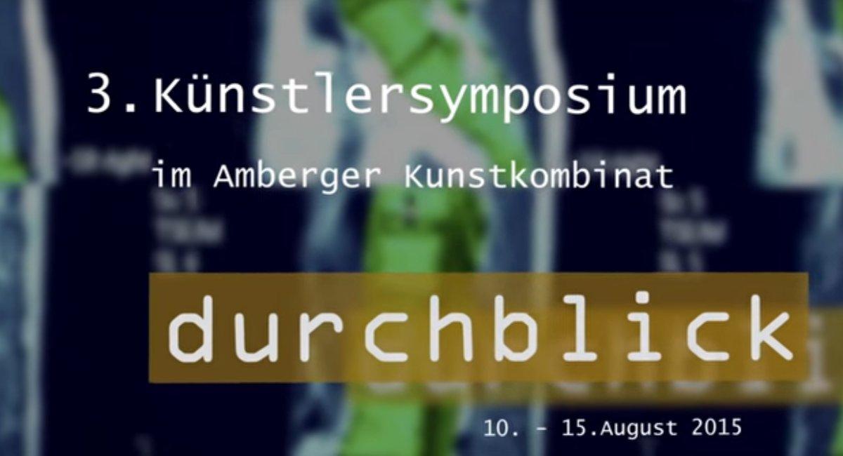3. Amberger Kunstsymposium 2015 – Durchblick – Film