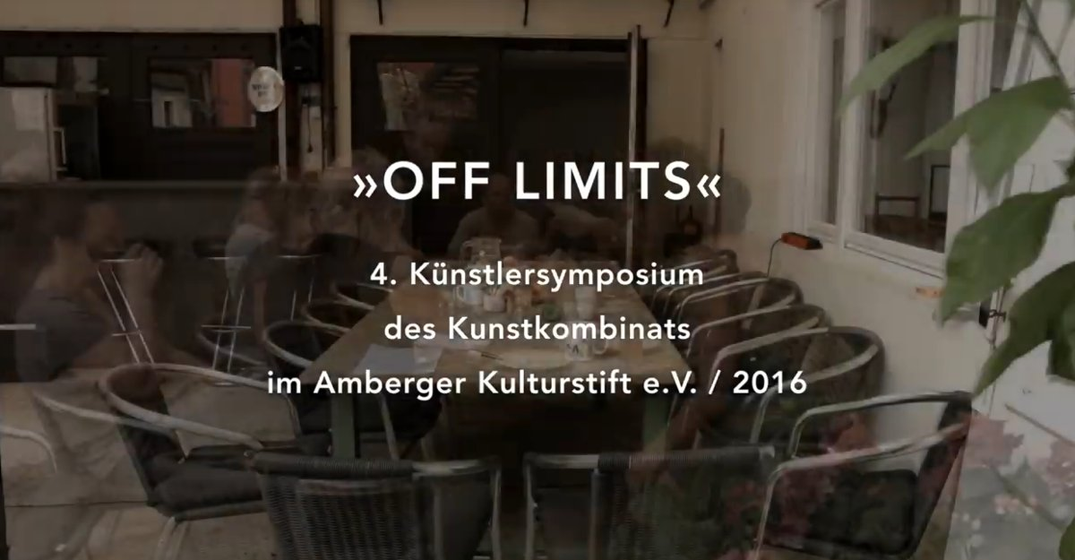 4. Amberger Kunstsymposium 2016 – OFF Limits – Film